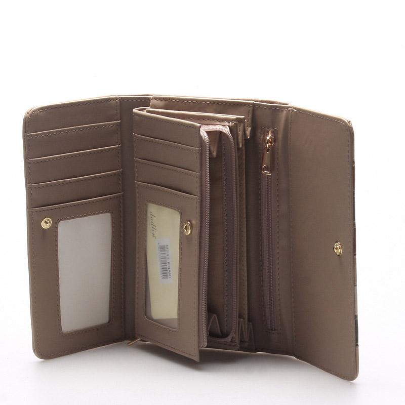 Pestrá dámská peněženka Jennifer, khaki
