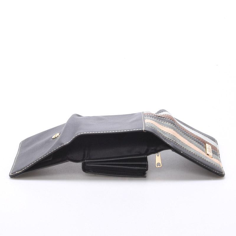 Pestrá dámská peněženka Jennifer, černá
