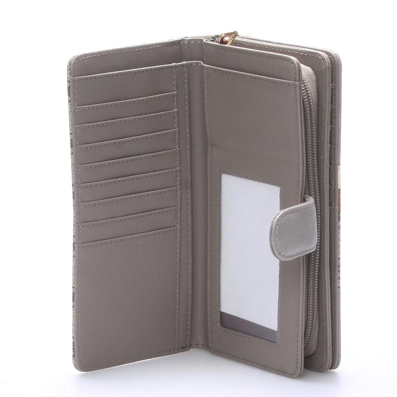 Moderní peněženka Katherine, khaki