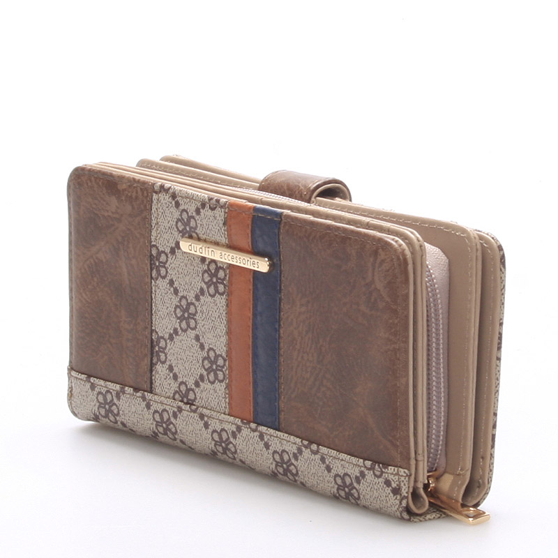 Moderní peněženka Katherine, oříšková