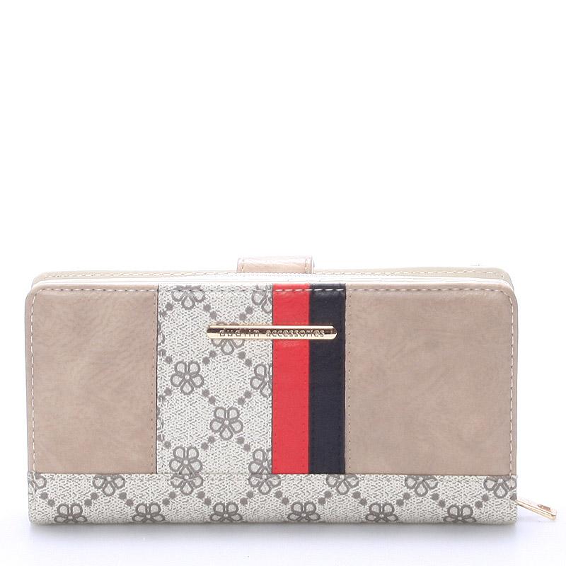 Moderní peněženka Katherine, béžová