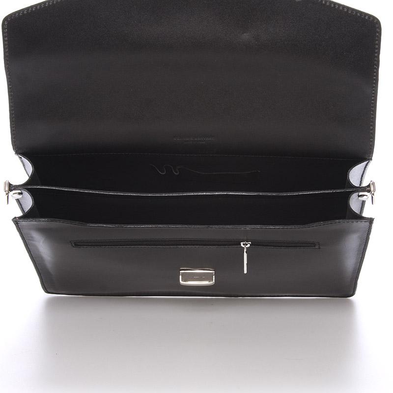 Pánská kožená aktovka Wilmer, černá