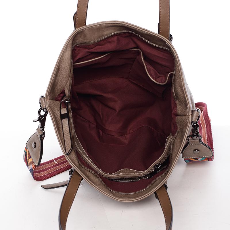 Stylová kabelka přes rameno Denzel, oříšková
