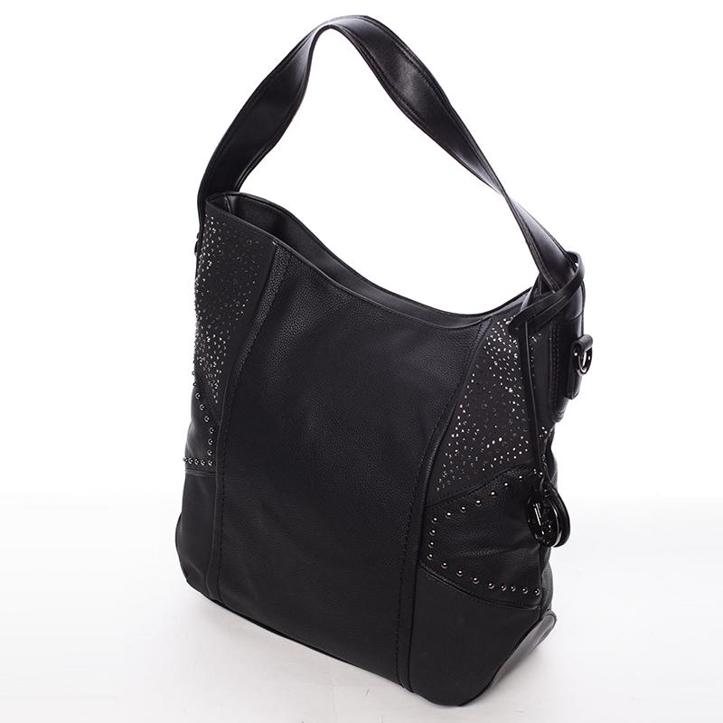 Luxusní kabelka přes rameno Octavio, černá