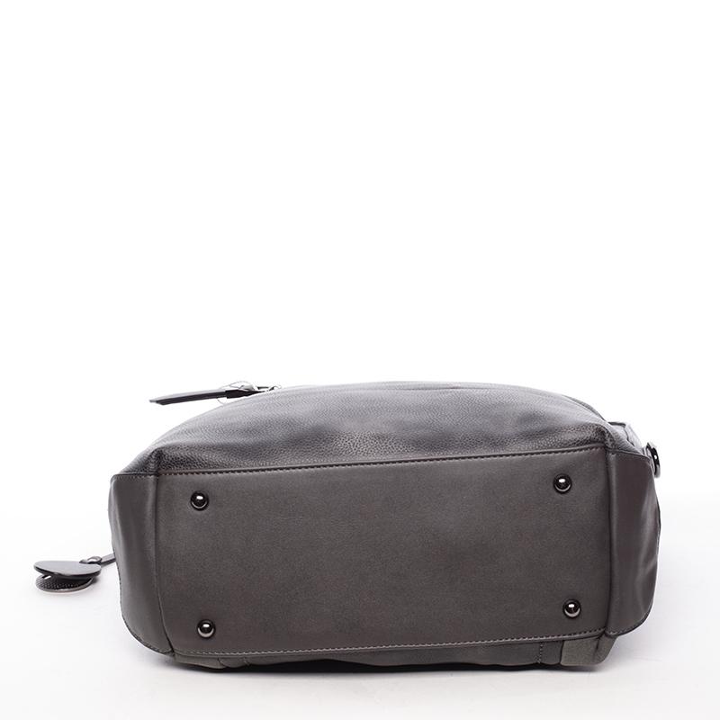 Luxusní kabelka přes rameno Octavio, šedá