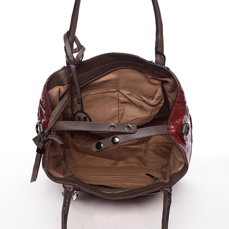 Luxusní kabelka Demetrius, červená