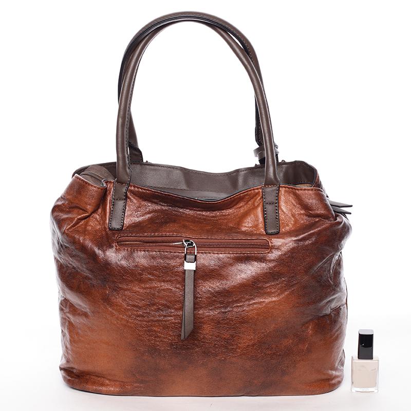 Luxusní kabelka Demetrius, hnědá