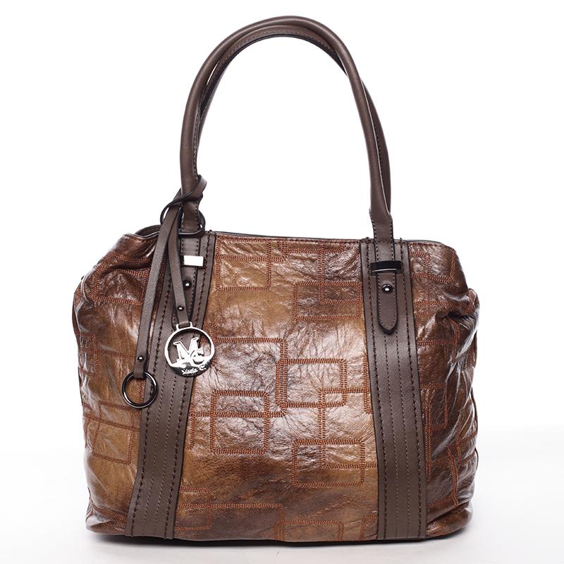 Luxusní kabelka Demetrius, kávová