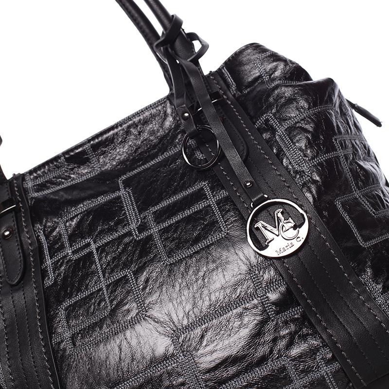 Luxusní kabelka Demetrius, černá