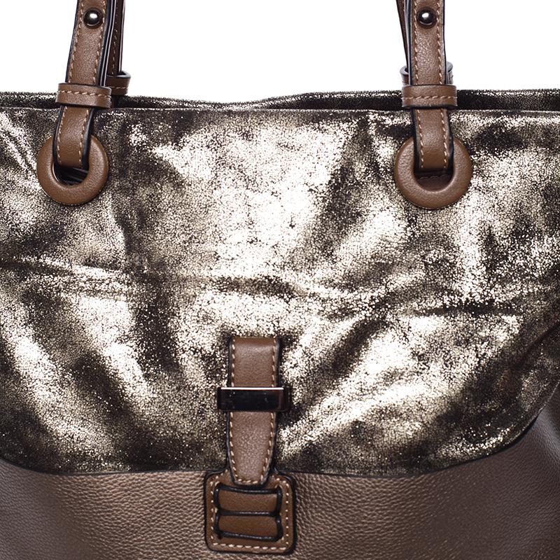 Prostorná kabelka přes rameno Jay, tmavě oříšková