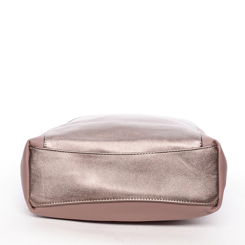 Prostorná kabelka přes rameno Jay, růžová