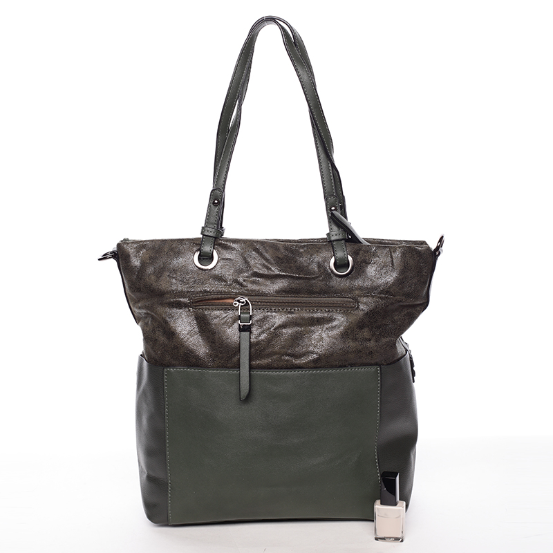 Prostorná kabelka přes rameno Jay, tmavě zelená