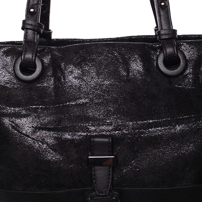 Prostorná kabelka přes rameno Jay, černá