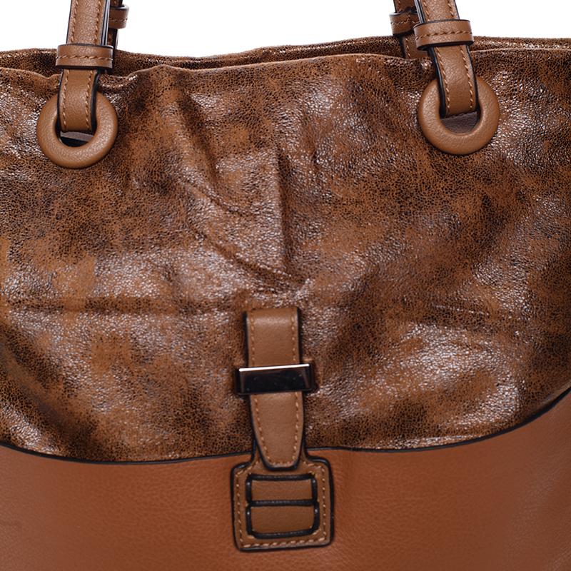 Prostorná kabelka přes rameno Jay, hnědá