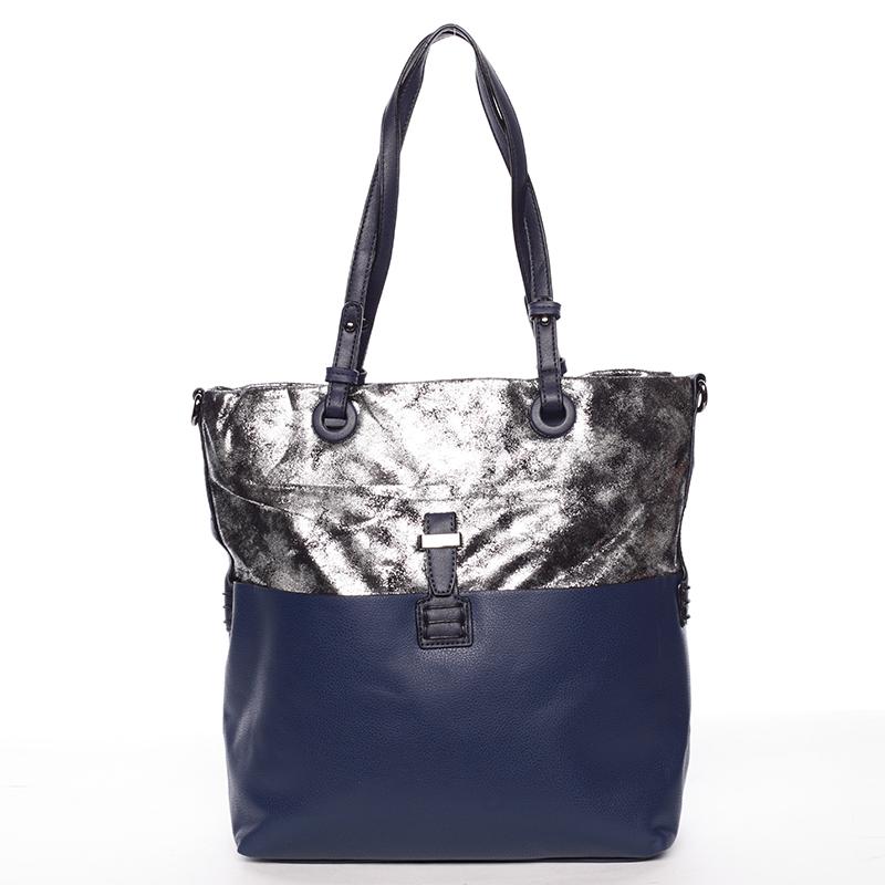 Prostorná kabelka přes rameno Jay, modrá