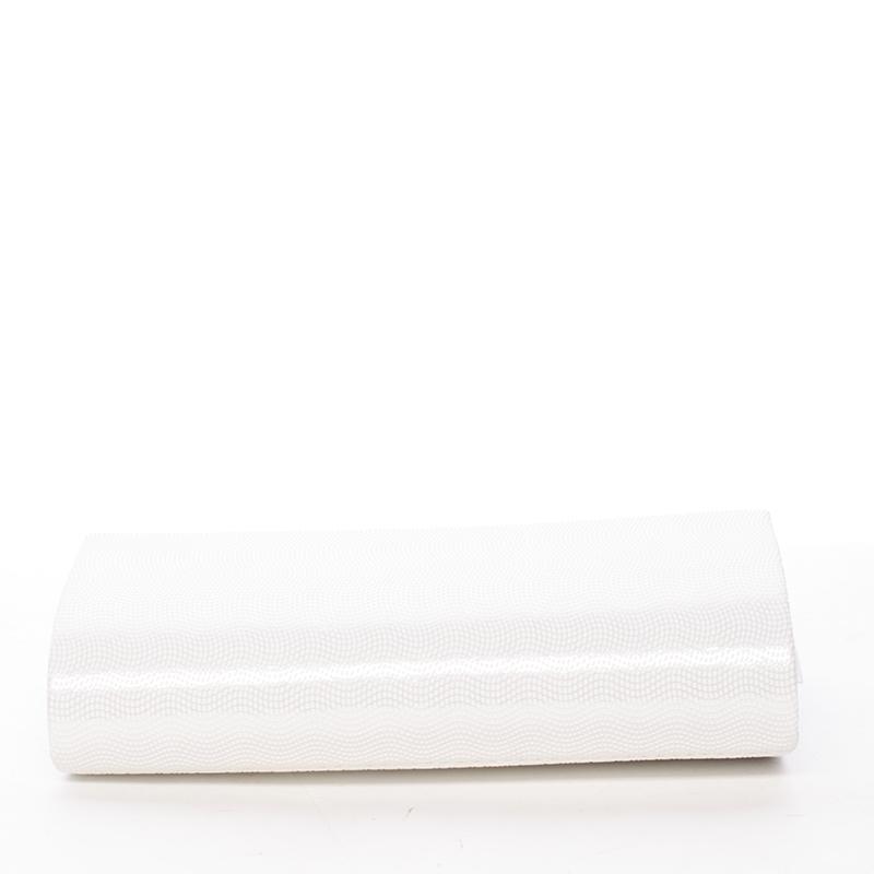 Elagantní dámské psaníčko Juliana, bílé matné - potisk