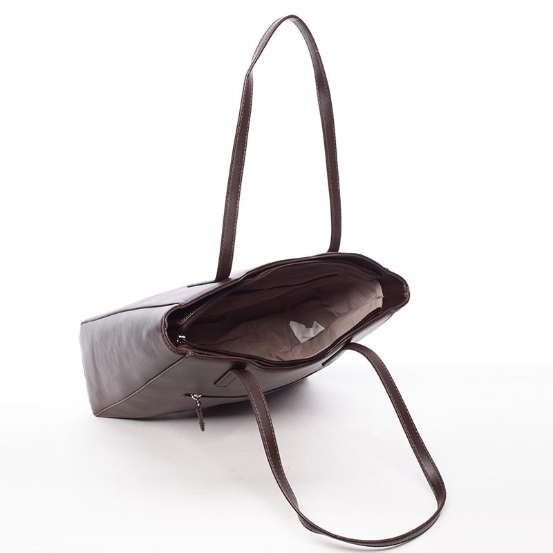 Elegantní dámská kabelka Adrian, tmavě hnědá
