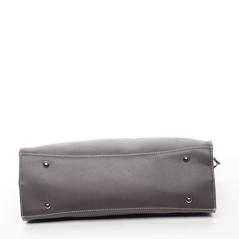 Dámská luxusní prostorná kabelka Derick, tmavě šedá