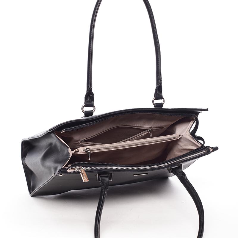 Dámská luxusní prostorná kabelka Derick, černá