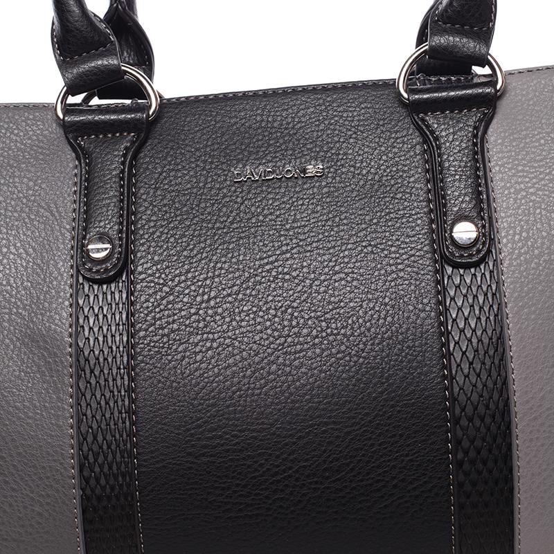 Velmi stylová kabelka do ruky Adolfo, černá-tmavě šedá