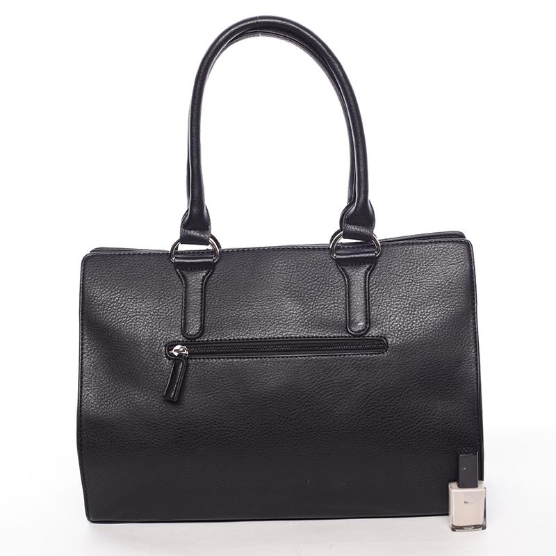 Velmi stylová kabelka do ruky Adolfo, černá
