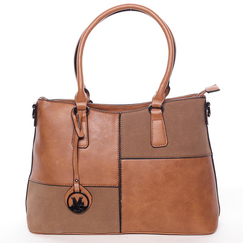 Elegantní kabelka do ruky Deandre, hnědá