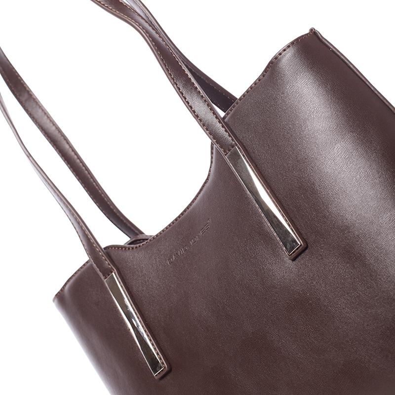 Elegantní kabelka přes rameno Deonte, tmavě hnědá