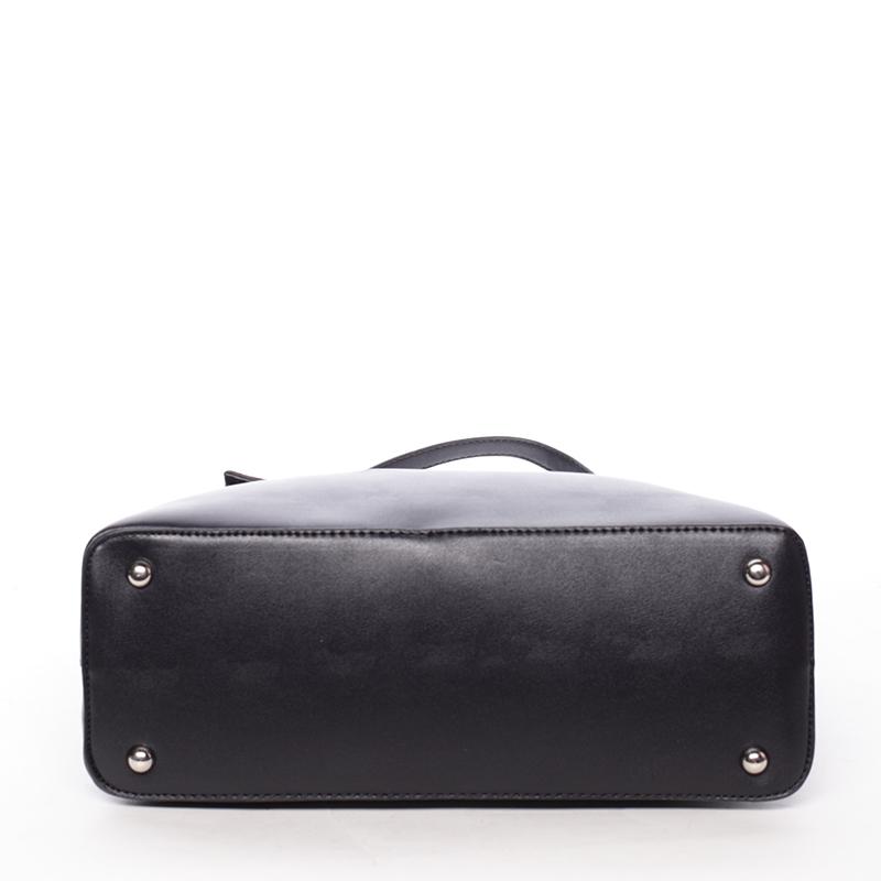 Elegantní kabelka přes rameno Deonte, černá