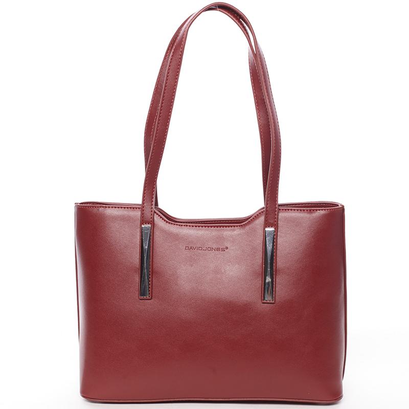 Elegantní kabelka přes rameno Deonte, červená