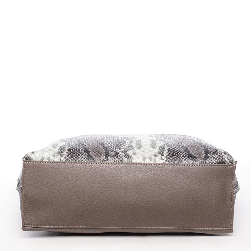Prostorná stylová kabelka Kari, tmavě oříšková