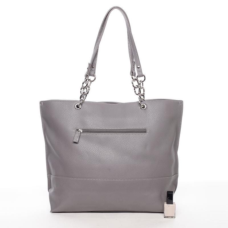 Prostorná stylová kabelka Kari, tmavě šedá