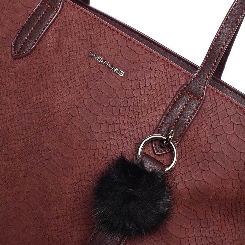 Stylová velká kabelka Nichole, švestková