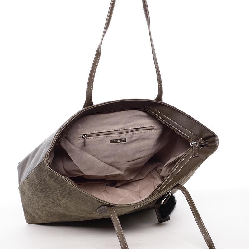 Stylová velká kabelka Nichole, khaki