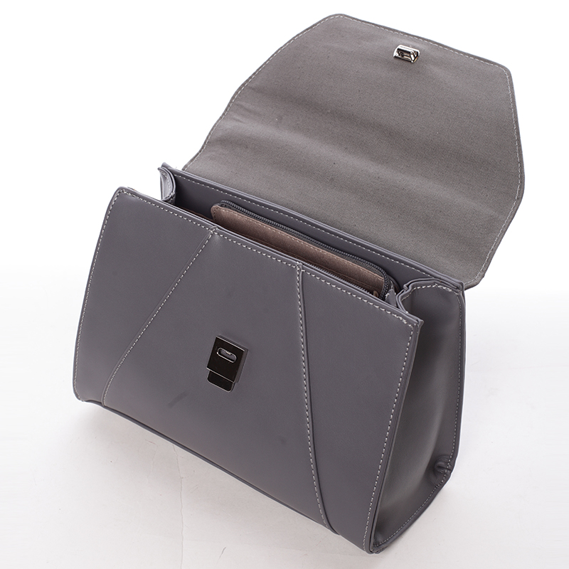 Módní kabelka do ruky Inga, tmavě šedá