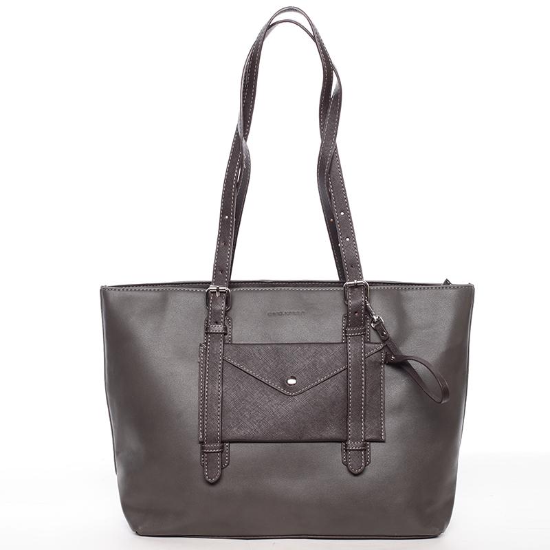 Prostorná kabelka Derek, tmavě šedá