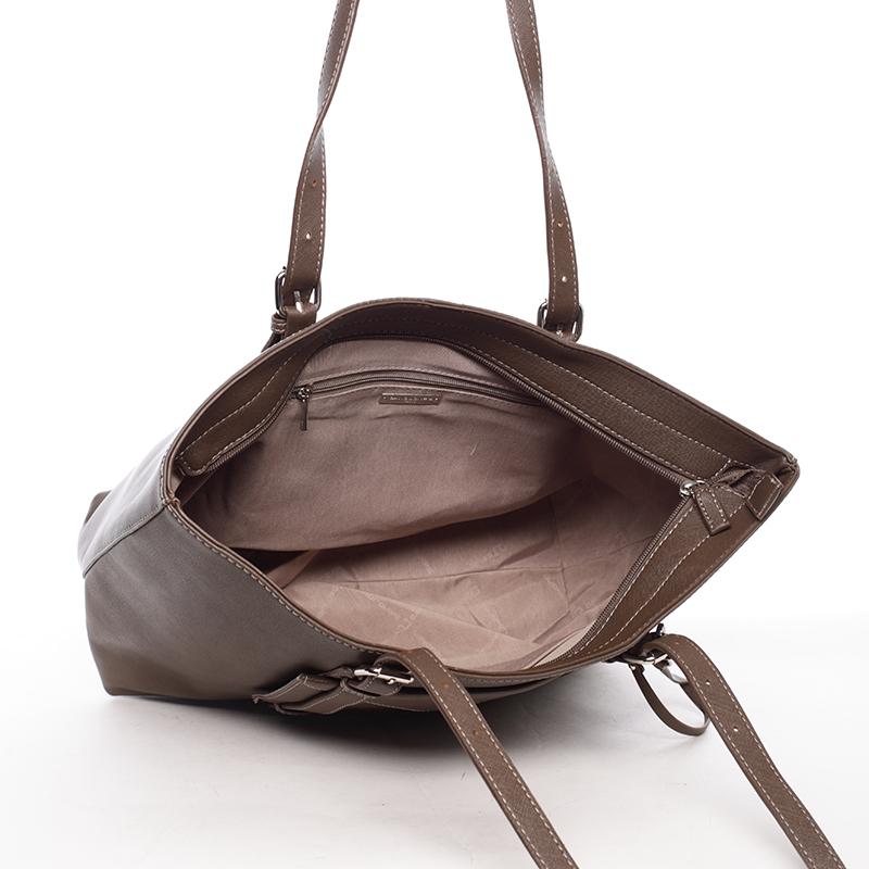 Prostorná kabelka Derek, tmavý oříšek