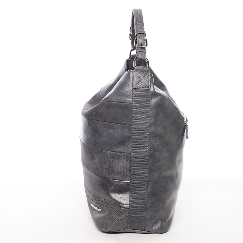Stylová kabelka přes rameno Iskra, tmavě šedá