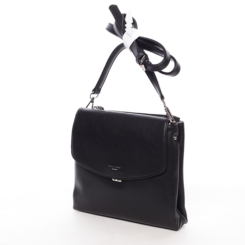 Krásná elegantní crossbody Valeriya, černá