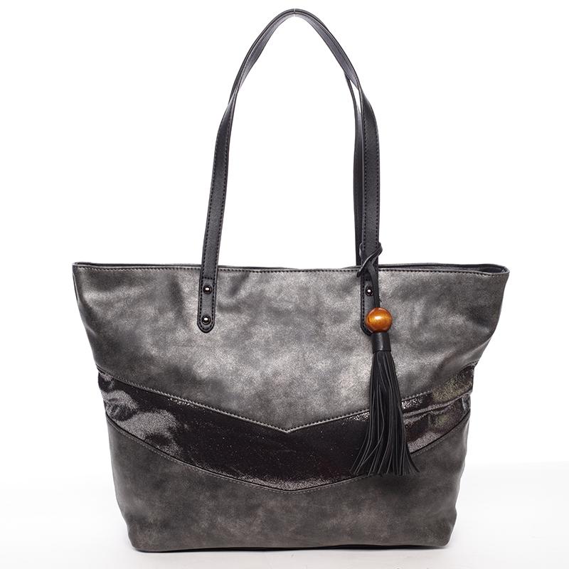 Prostorná trendy kabelka Anfisa, černá