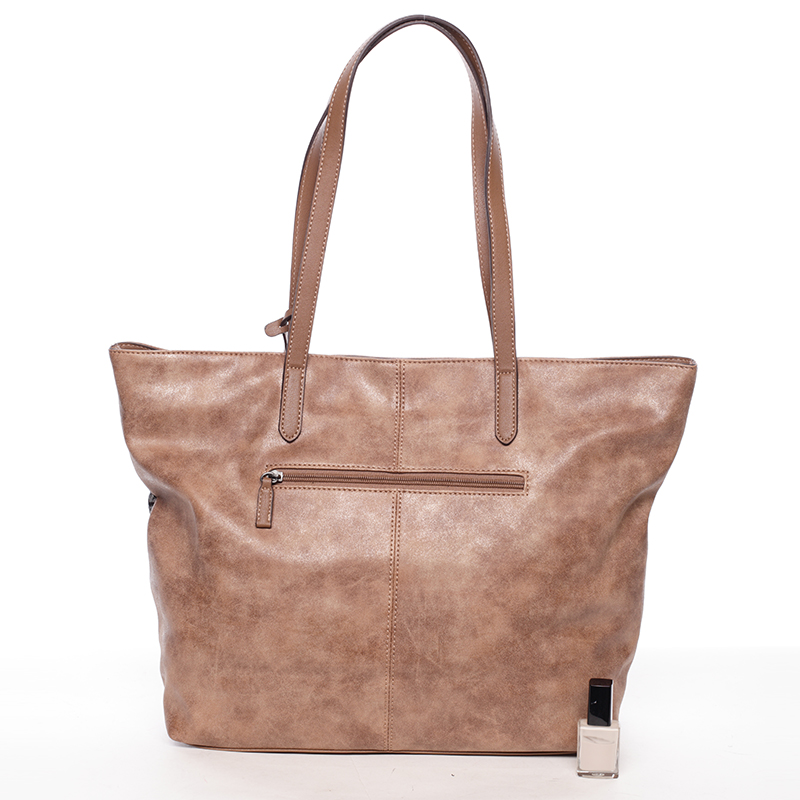 Prostorná trendy kabelka Anfisa, hnědá