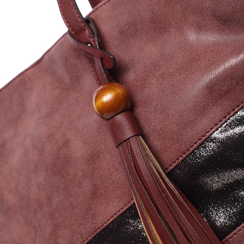 Prostorná trendy kabelka Anfisa, bordó