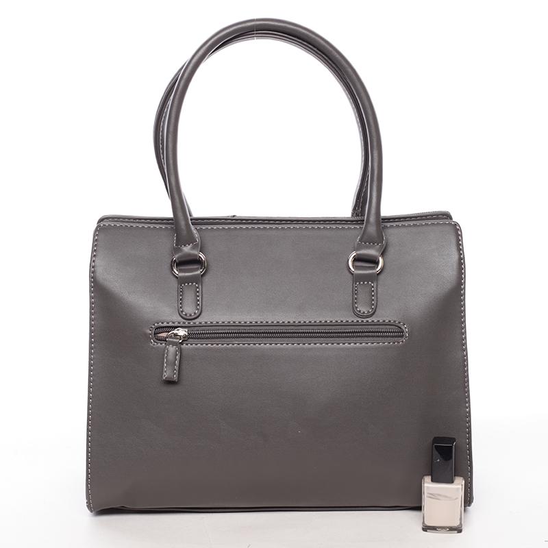 Stylová kabelka do ruky Klara, tmavě šedá