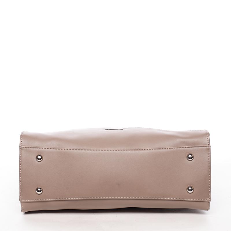 Stylová kabelka do ruky Klara, tmavě béžová