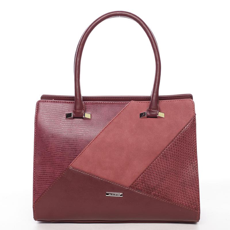 Stylová kabelka do ruky Klara, bordó