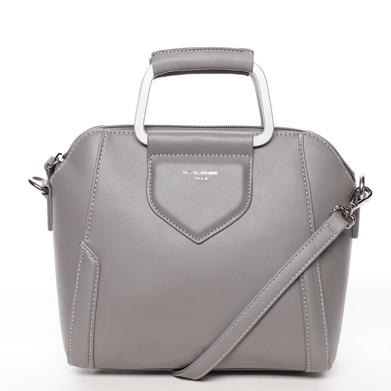 Luxusní kabelka do ruky i přes rameno Klavdiya, šedá