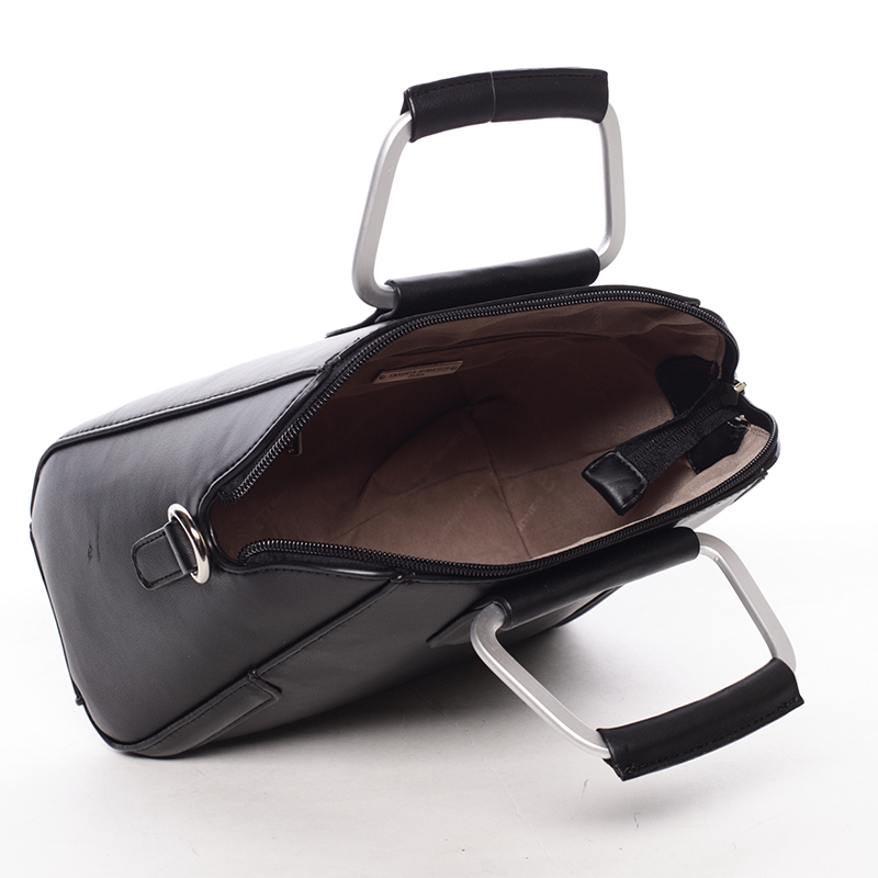 Luxusní kabelka do ruky i přes rameno Klavdiya, černá