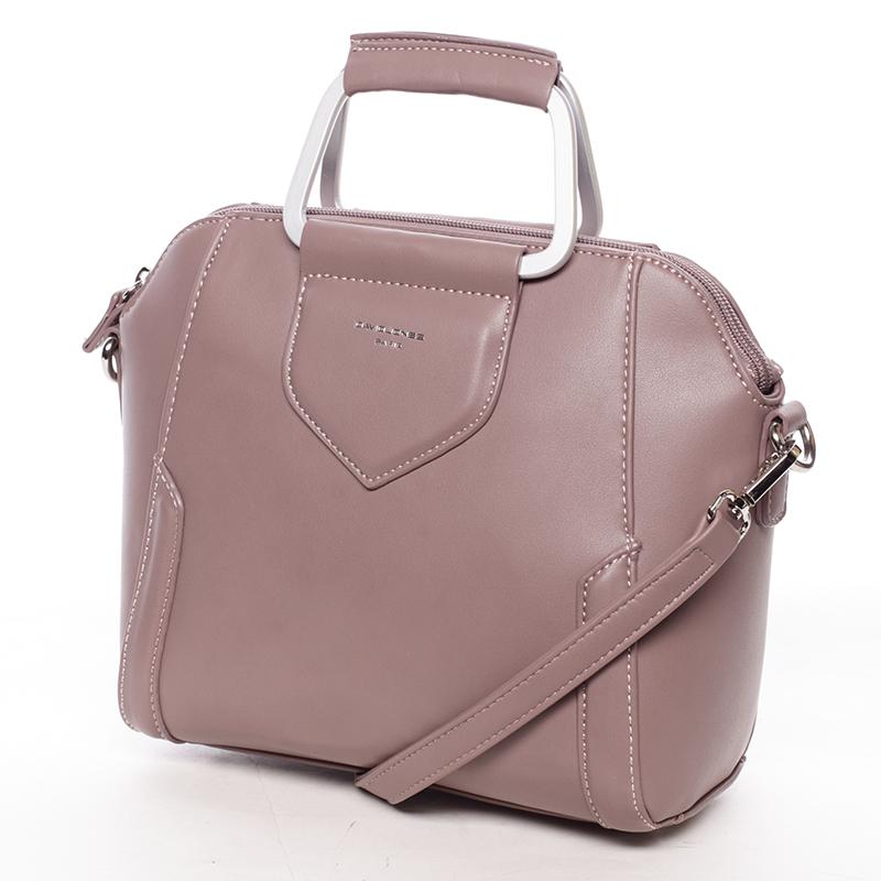 Luxusní kabelka do ruky i přes rameno Klavdiya, tmavě růžová