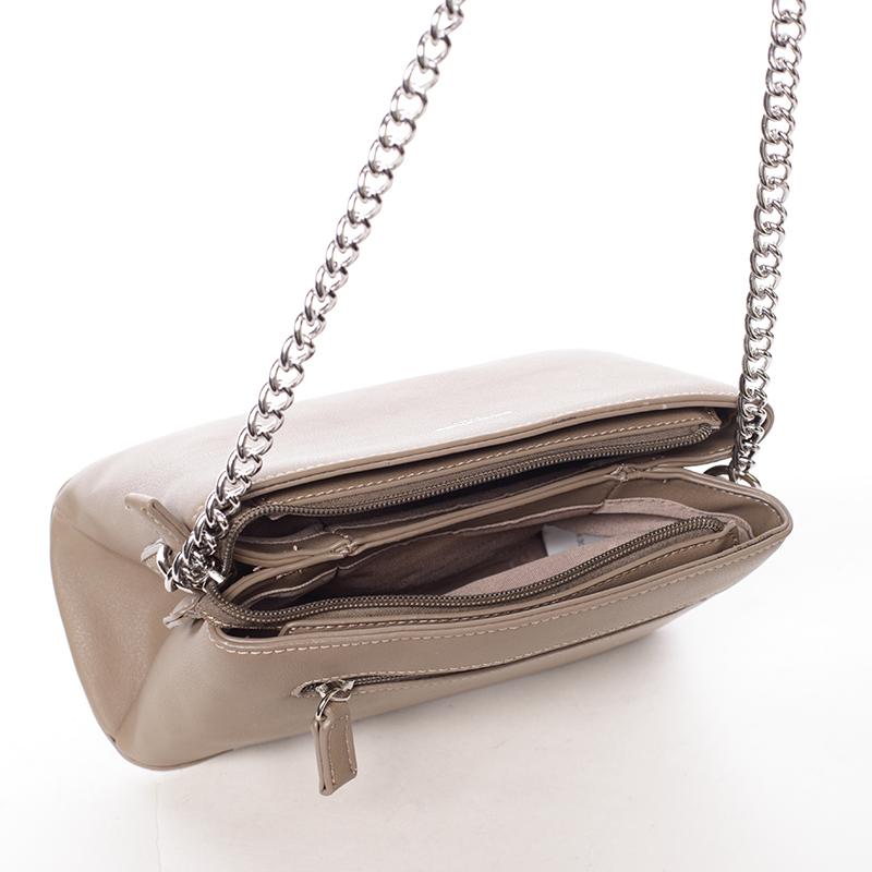 Stylová crossbody kabelka Kelsey, oříšková