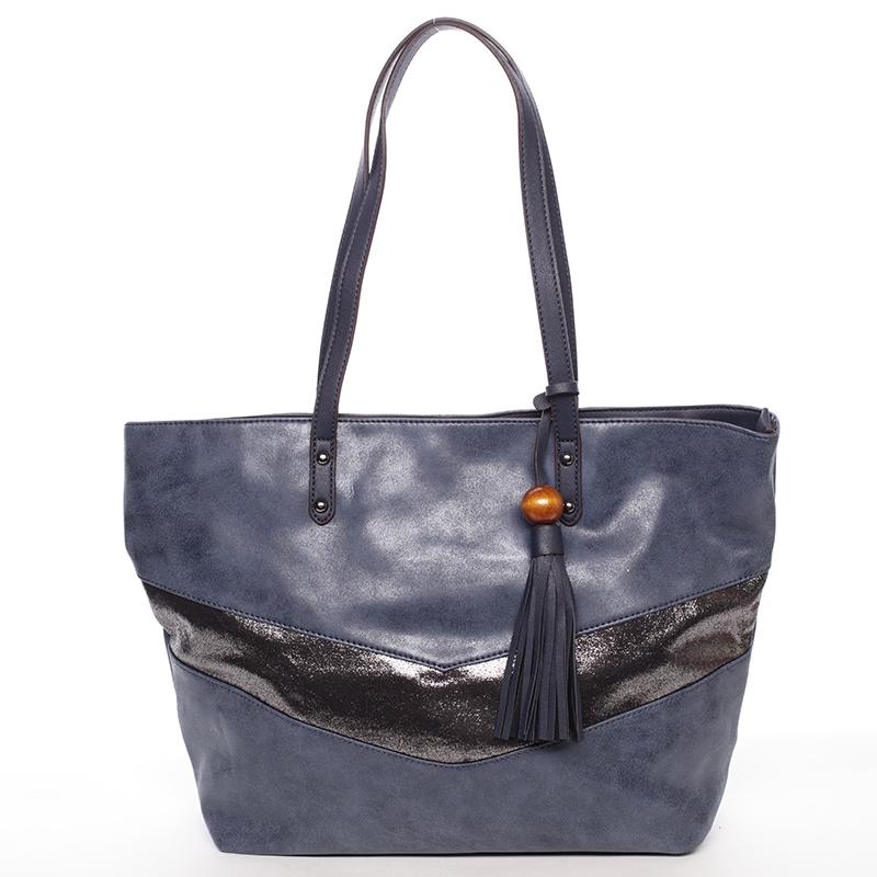 Prostorná trendy kabelka Anfisa, modrá
