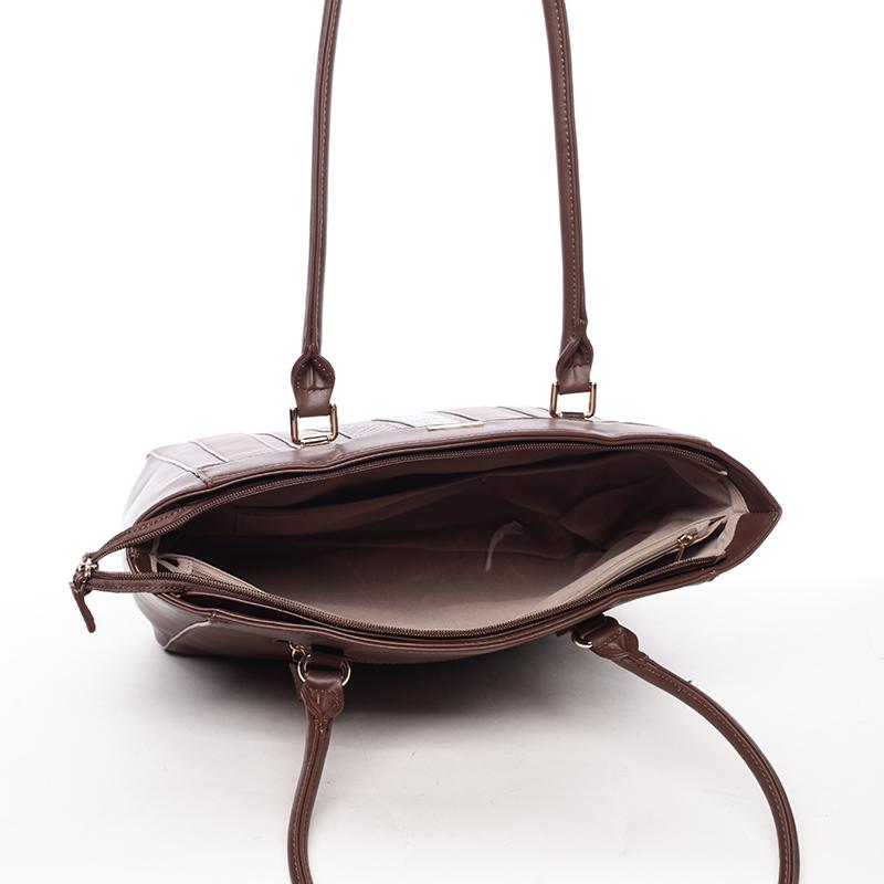 Elegantní kabelka přes rameno Reagan, tmavě hnědá